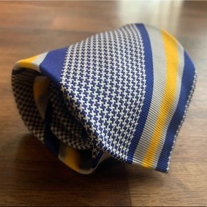 Drakes for Domenico Spano Blue & Gold Stripe Tie